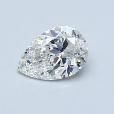 Piedra recomendada 3: Diamante en forma de pera de0.71 quilates