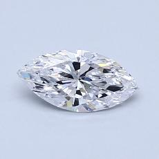 0.53-Carat Marquise Diamond Very Good D IF
