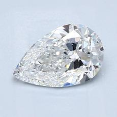 1.01 Carat 梨形 Diamond 非常好 E VS2