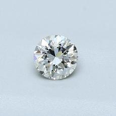 推薦鑽石 #2: 0.31 克拉圓形切割鑽石