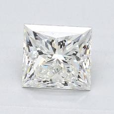 1,23-Carat Princess Diamond Very Good I VS1