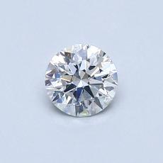 0.40-Carat Round Diamond Ideal G SI1