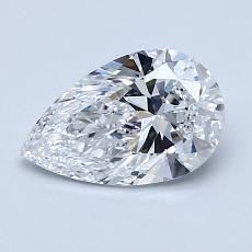 推薦鑽石 #4: 1.05 克拉梨形鑽石