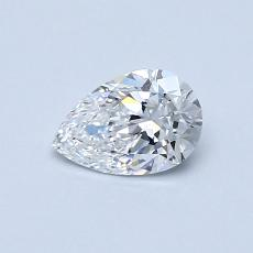 0.50 Carat 梨形 Diamond 非常好 D VVS1