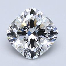 2,02-Carat Cushion Diamond Very Good F VVS1