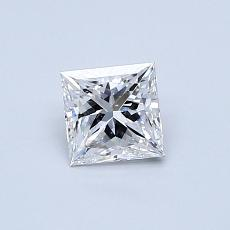 0,53-Carat Princess Diamond Very Good D VS2