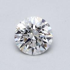 0.71-Carat Round Diamond Ideal D VS2