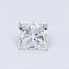 0.40-Carat Princess Diamond Very Good E SI2