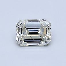 0.70-Carat Emerald Diamond Very Good J SI1