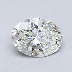 0.90-Carat Oval Diamond Very Good H SI1