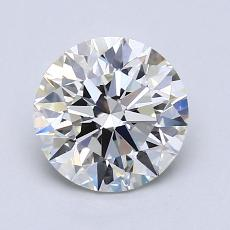 1.51-Carat Round Diamond Ideal J VVS2
