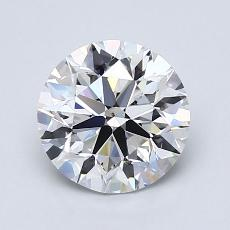1.50-Carat Round Diamond Ideal E VS2