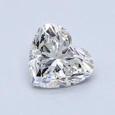 Pierre recommandée n°1: Diamant taille cœur 0,90carat