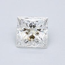 所選擇的鑽石: 0.71  克拉公主方形鑽石