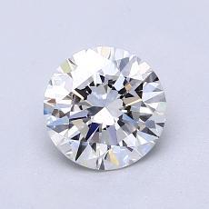 1,00-Carat Round Diamond Ideal E VS2