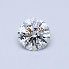 0,50-Carat Round Diamond Ideal D FL