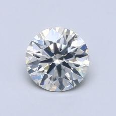 0,80-Carat Round Diamond Ideal J SI2