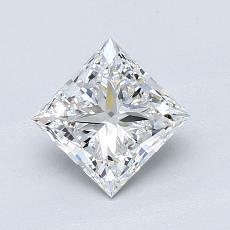 1.01-Carat Princess Diamond Very Good F VVS1