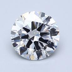 1.51-Carat Round Diamond Ideal D VVS2