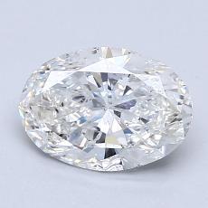1.50-Carat Oval Diamond Very Good G SI2