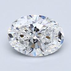 推荐宝石 4:1.50克拉椭圆形切割钻石