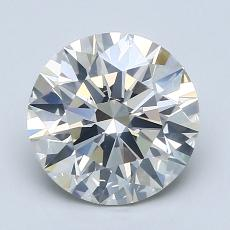 2.03-Carat Round Diamond Ideal J SI2