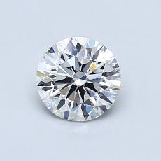 0.72-Carat Round Diamond Ideal E VS2