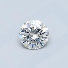 0,40-Carat Round Diamond Ideal E SI1