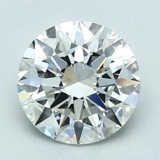 2.01 Carat 圓形 Diamond 理想 H VVS2