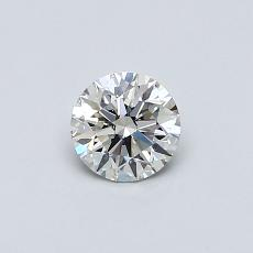0.41-Carat Round Diamond Ideal H VS1