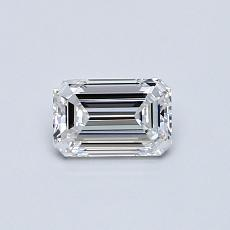 0.46-Carat Emerald Diamond Very Good D VVS1