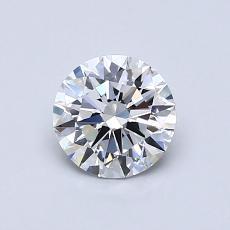 0,70-Carat Round Diamond Ideal D IF