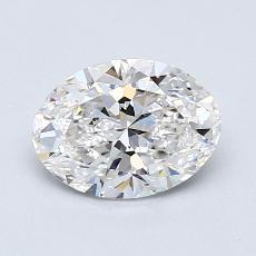 1.00-Carat Oval Diamond Very Good F VS2