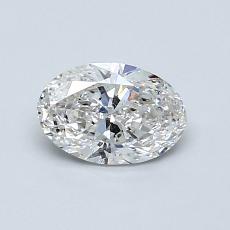 0.70 Carat 椭圆形 Diamond 非常好 F SI2