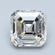 Pierre recommandée n°1: Diamant taille Asscher 2,01 carat