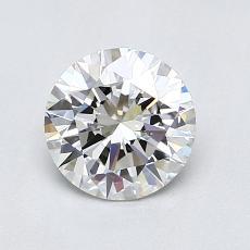 1.01-Carat Round Diamond Ideal F VVS1