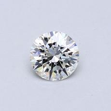 0.40-Carat Round Diamond Ideal H IF