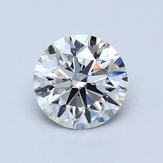 0.91-Carat Round Diamond Ideal D FL