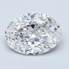 1,50-Carat Oval Diamond Very Good E VS1