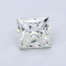 1.00 Carat 公主方形 Diamond 非常好 J VVS2