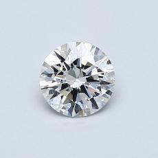 0.50 Carat 圆形 Diamond 理想 H VS2