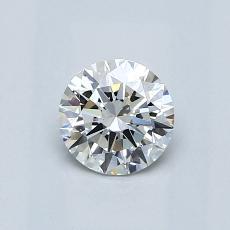 0.60-Carat Round Diamond Ideal G SI1