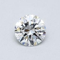 0.52 Carat 圆形 Diamond 理想 D VVS2