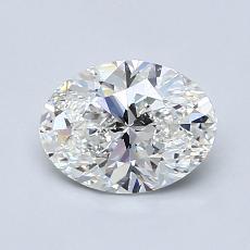 1,00 Carat Ovale Diamond Très bonne G VVS2