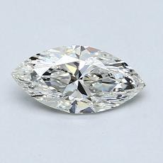 0,72-Carat Marquise Diamond Very Good J SI1