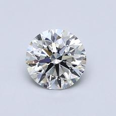 0,75-Carat Round Diamond Ideal G VVS2
