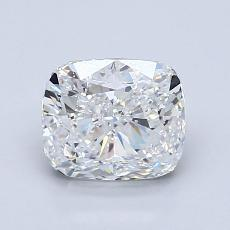 1,50-Carat Cushion Diamond Very Good D SI1