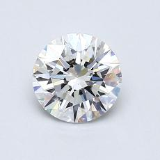 0,75-Carat Round Diamond Ideal D VS1