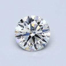 0.78 Carat 圓形 Diamond 理想 G VVS1