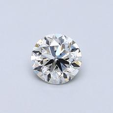 0.50-Carat Round Diamond Good H SI1